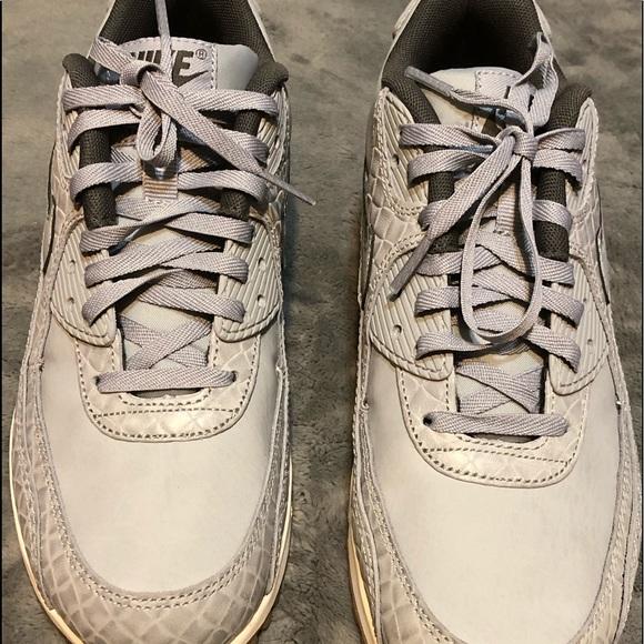 buy popular 84441 2a01a Nike Women s Air Max 90 Premium - Wolf grey. M 5c4f2093a31c331b018aa3b8